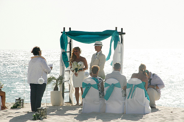 Naimisiin Curacaon paratiisisaarella