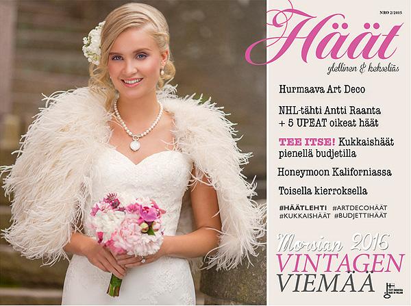 Eleganttia vintagen viemää Häät-digilehti julkaistu