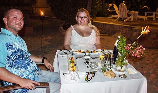 Kylmästä lämpimään – illalliselämys kynttilänvalossa Curaçaolla