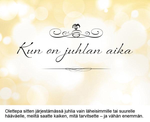 Ainutlaatuisia juhlatiloja Helsingissä elegantteihin häihin