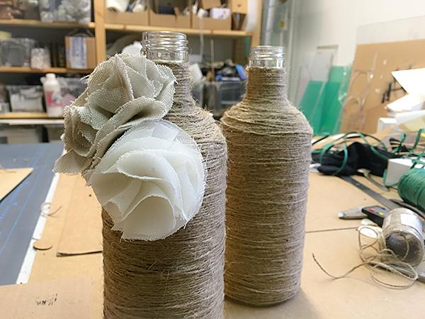 DIY – rustiikkiset maljakot