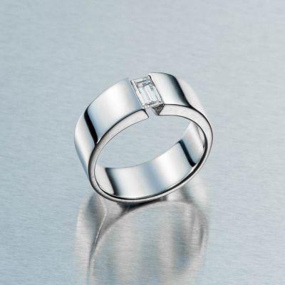 Valkokultainen timanttisormus – AU-Holmberg