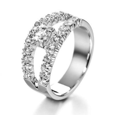 Scarlett-timanttisormus – Kultasepät Andreasen