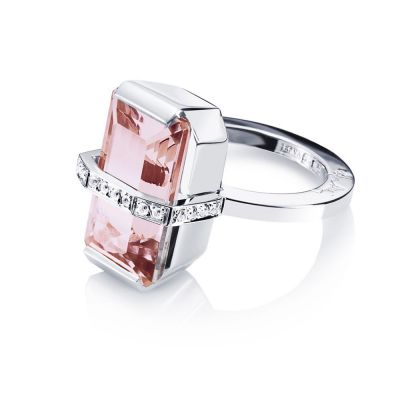 Efva Attling Bend Over Ring - Morganite