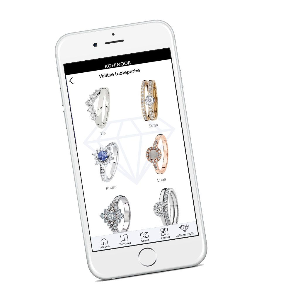 Kohinoor Sormus-app