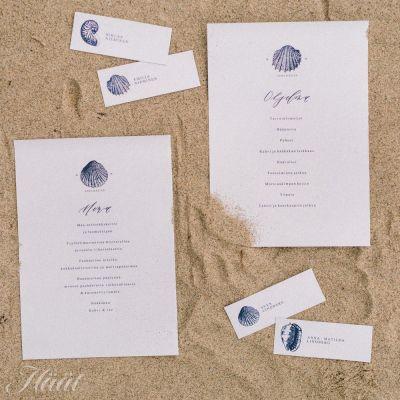 Printtaa itse merihenkiset menu- ja paikkakortit