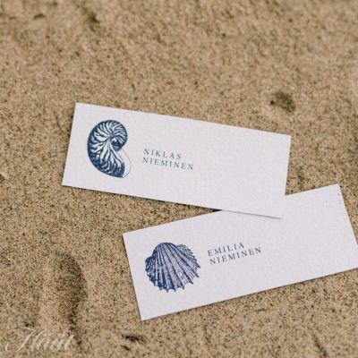 Printtaa merihenkiset paikkakortit häihisi
