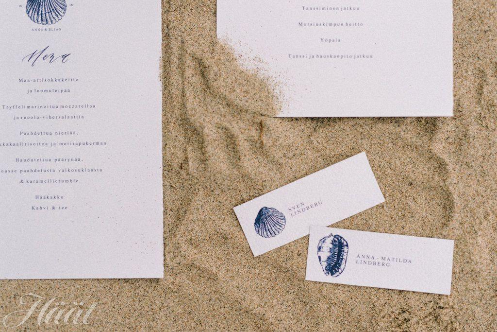 Printtaa merihenkiset menu- ja paikkakortit ilmaiseksi