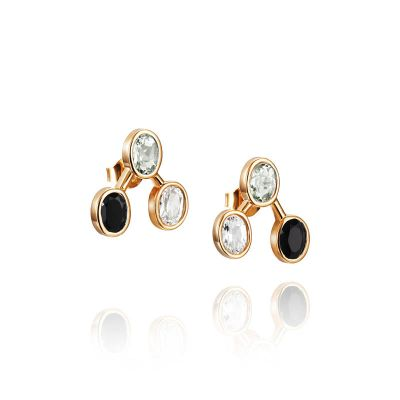 Efva Attling korvakorut Three Shades Ear Onyx