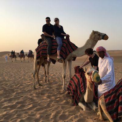 Kameliratsastus häämatkalla Dubaissa