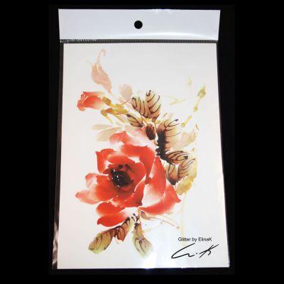 Red Rose siirtokuvatatuointi Glitter by ElinaK