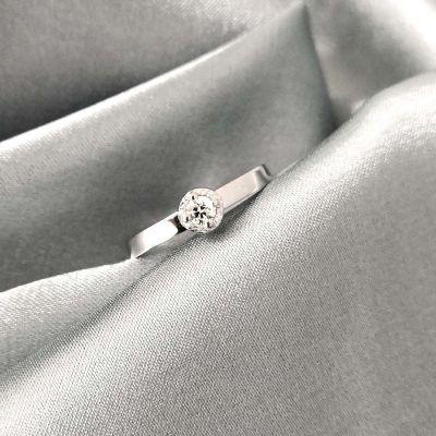 vihkisormus timanttisormus valkokultaa Tammi Jewellery