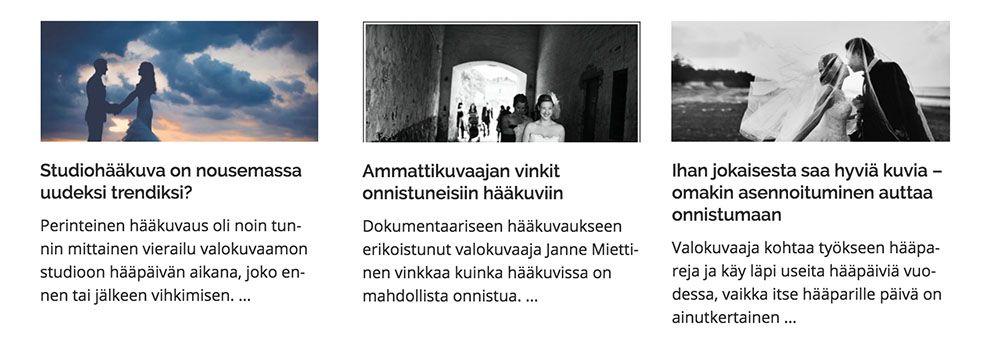 Häät.fi Hääinspiraatio Hääkuvaus
