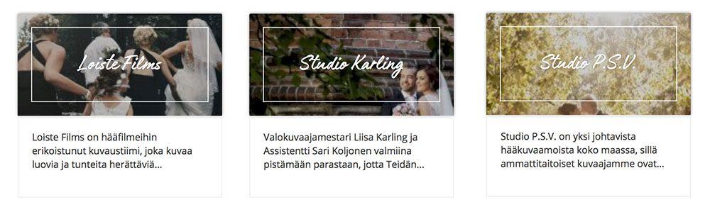 Häät.fi Hääpalvelut Hääkuvaus