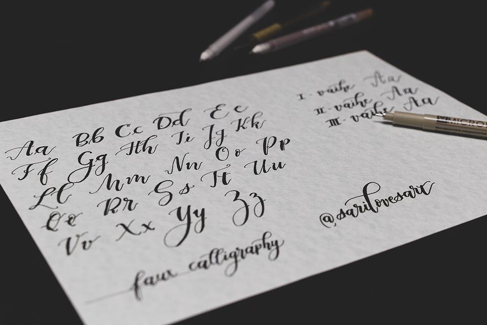 Opi Faux-kalligrafiaa Mennään Naimisiin messuilla 2019