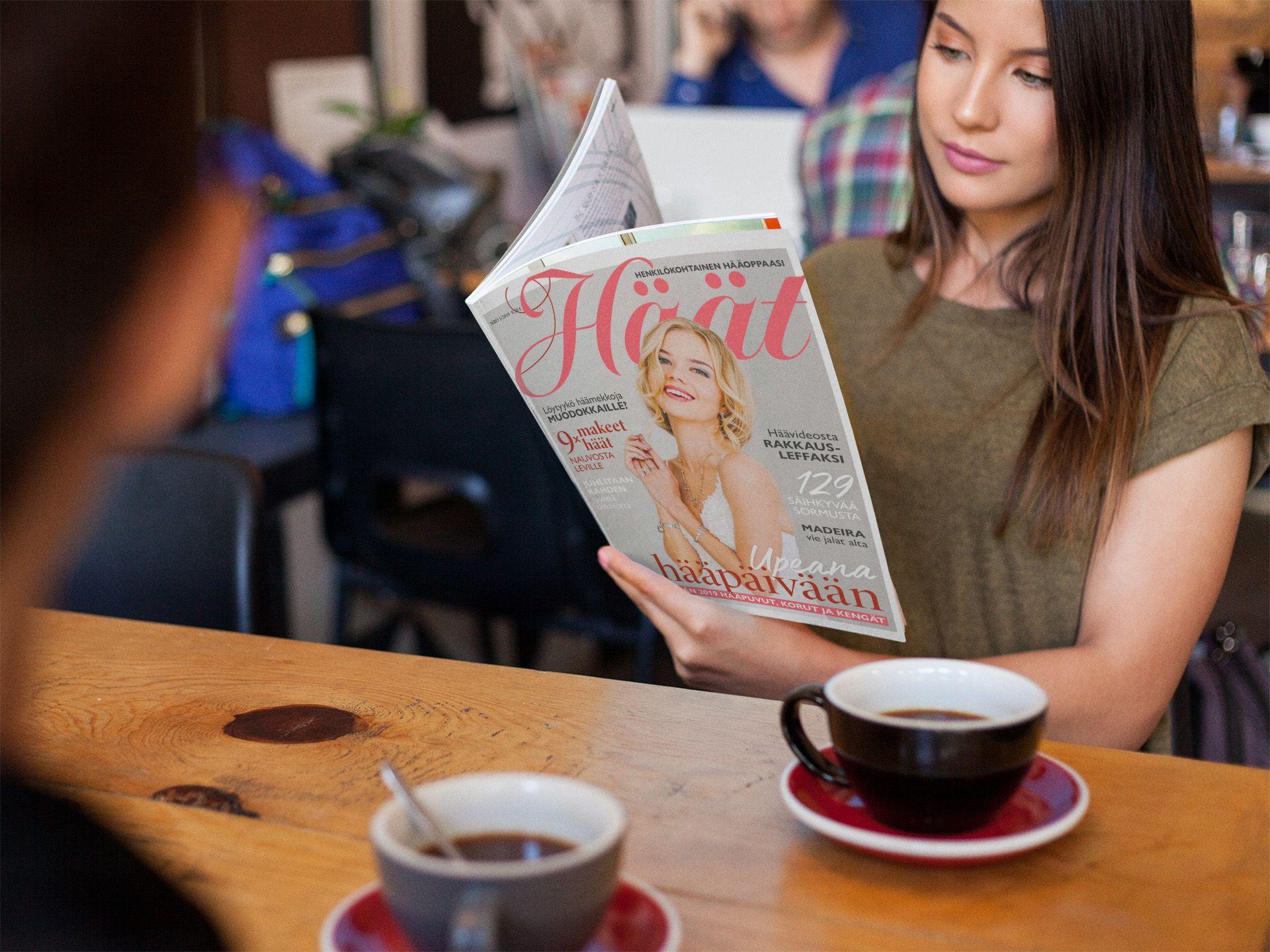 Häät-lehti 1/2019 kahvilassa