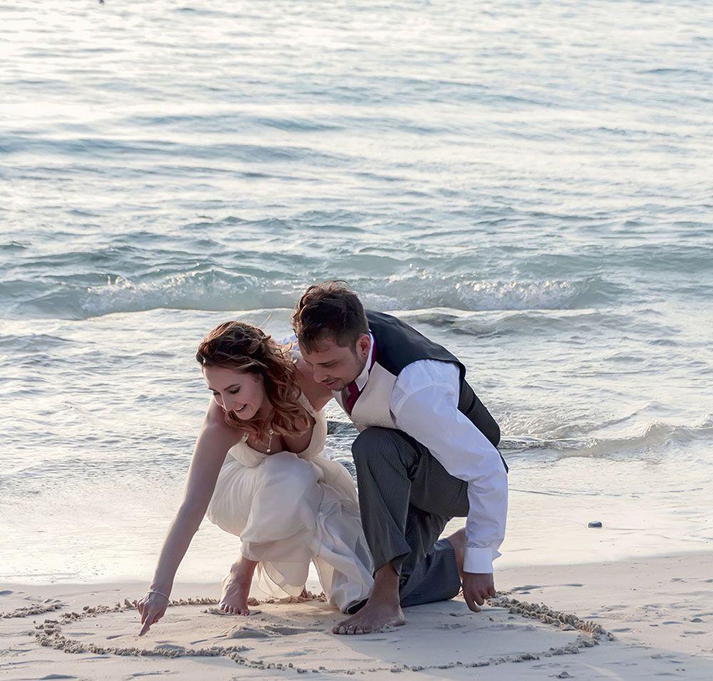 Ilmari ja Johanna häät Curacaolla