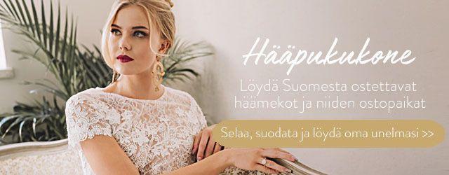 Hääpukukonesta Suomessa saatavilla olevat häämekot ja niiden ostopaikat