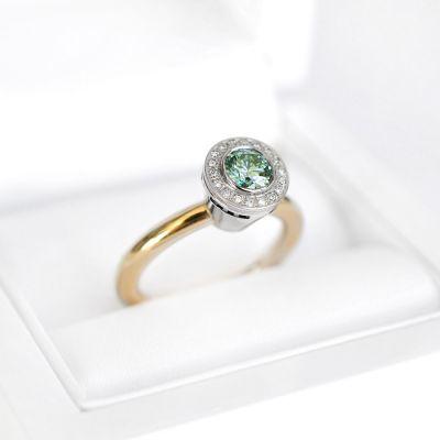 timanttisormus vihreällä timantilla Atelier Eklöf Gren