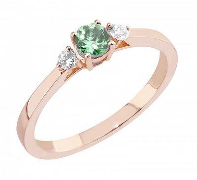 timanttisormus vihreällä turmaliinilla Malmin korupaja Megan