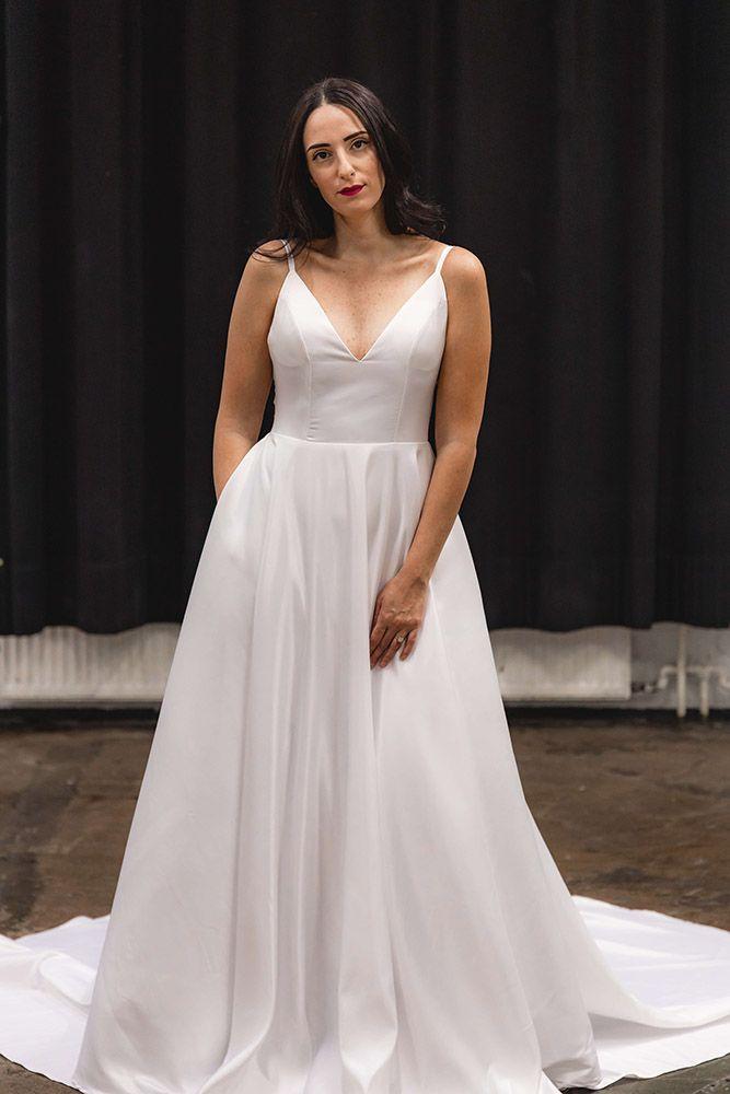 Hääpuku prinsessahelmainen elegantti taskut Batel Boutique Lydia