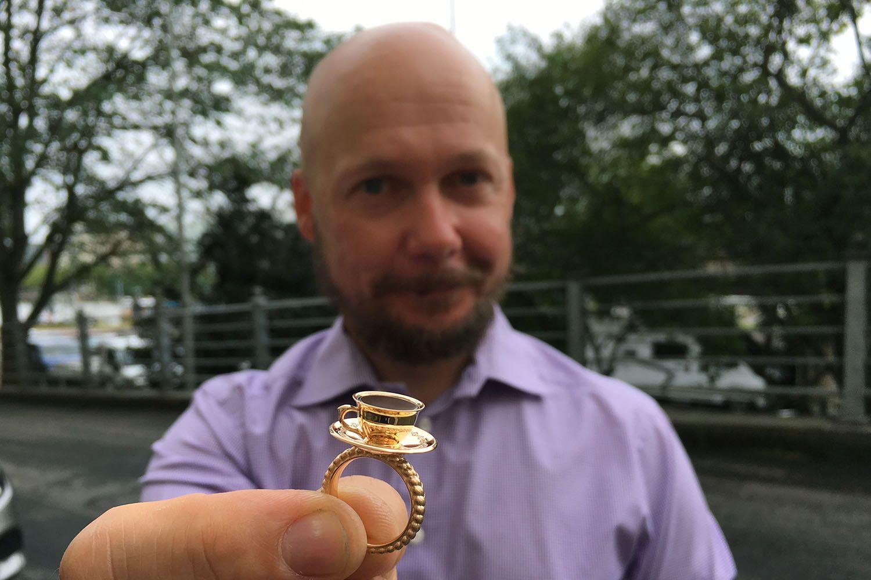 Pekka Kulmala Kultaseppä Kulmala Pullakahvi-sormus