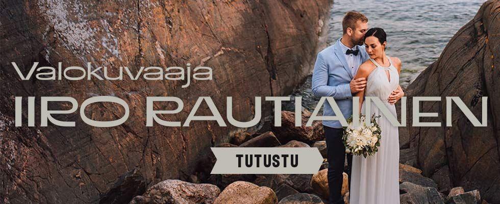 Valokuvaaja Iiro Rautiainen häävalokuvaaja