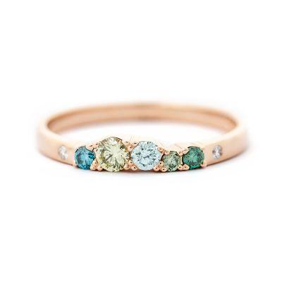 Keto vihkisormus vihreä timanttisormus AU3 Kultasepät