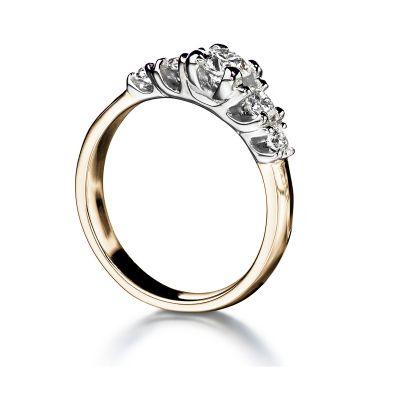 Kultasepät Andreasen timanttisormus Tulppaani