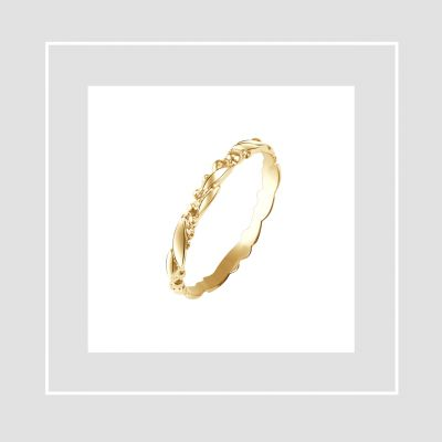 Tammi Jewellery kultainen vihkisormus Seppele