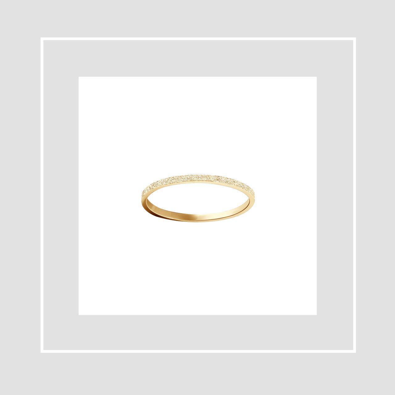 Tammi Jewellery keltakuinen vihkisormus Pretty
