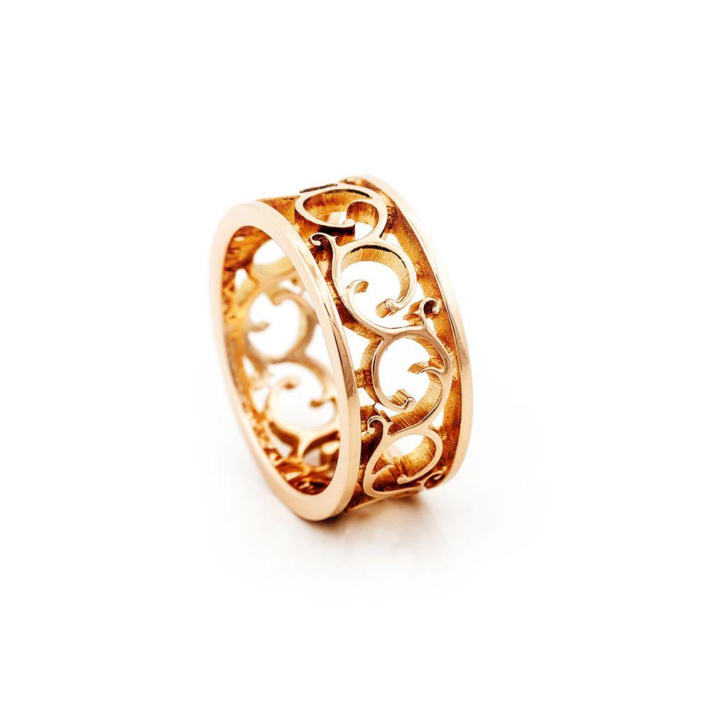 Ornamentti vihkisormus AU3 Kultasepät