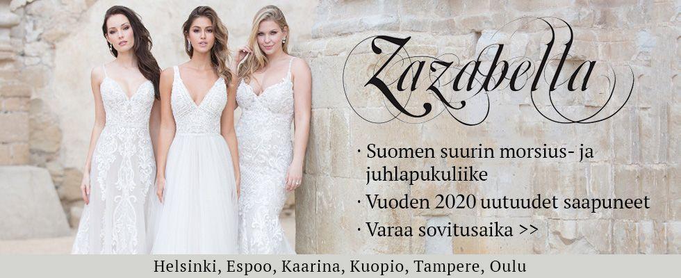 Varaa sovitusaika Suomen suurimpaan hääpukuliikkeeseen Zazabellaan