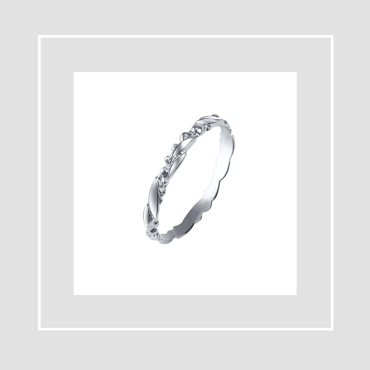 Tammi Jewellery valkokultainen Seppele vihkisormus