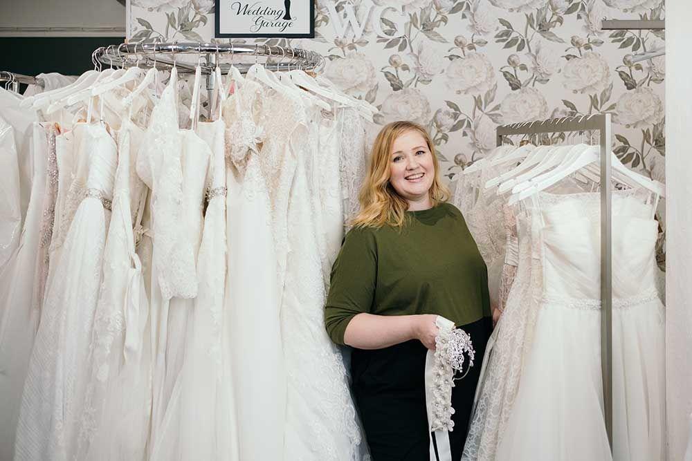 Wedding Garage hääpukuliike JYväskylä Maija Putkonen
