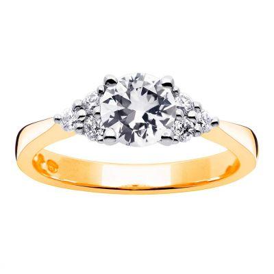 timanttisormus keltakulta 20100545 princess kultajousi