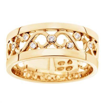 timanttisormus keltakulta 21031 princess kultajousi