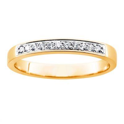 timanttisormus keltakulta 21261 princess kultajousi