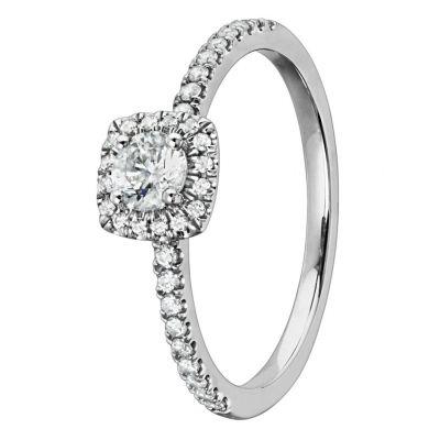 timanttisormus valkokulta 37387 Story Of Love Kultajousi