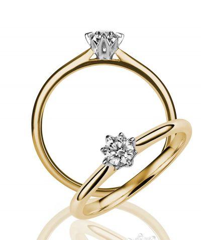 Yksikivinen Rosa timanttisormus Kohinoor