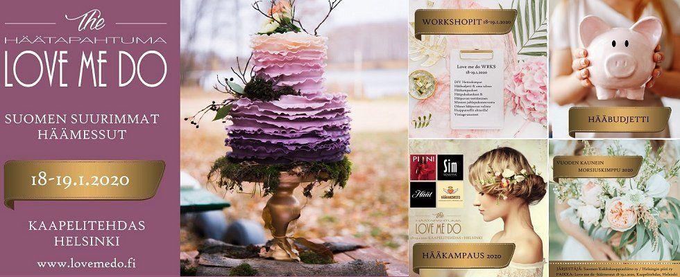 Love me do -häätapahtuma Kaapelitehtaalla Helsingissä 18.-19.1.2020