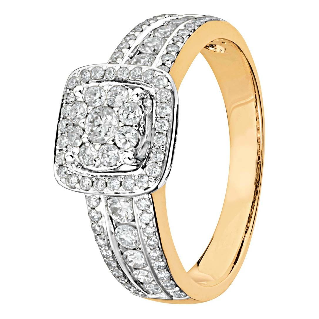 timanttisormus keltakulta 39992 Story Of Love Kultajousi