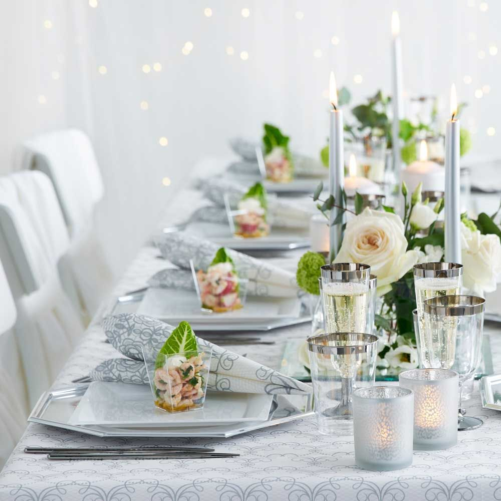 hääpöytä hääkattaus talvihäät elegantihäät Milena Duni