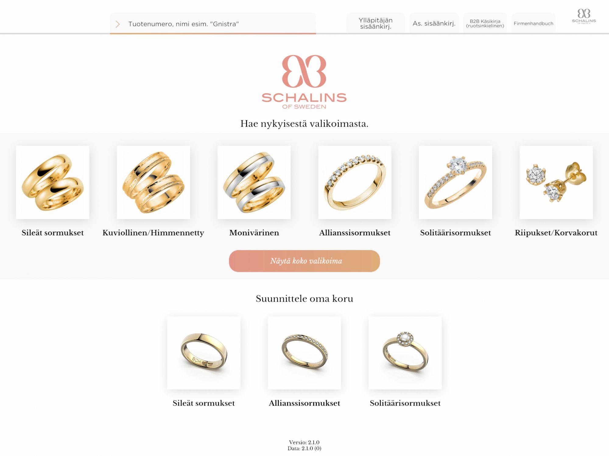Schalins RingTailor sormuksen suunnittelutyökalu