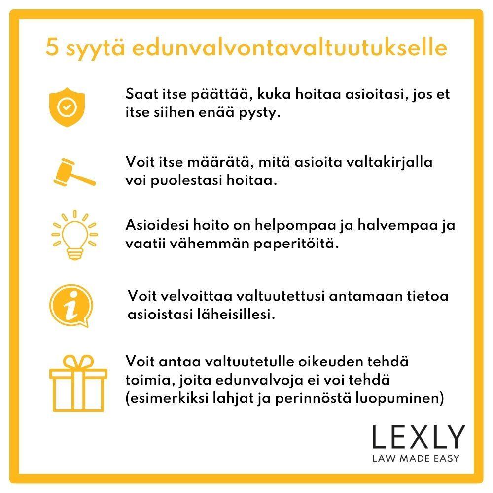 5 syytä edunvalvontavaltuutukselle - Lexly