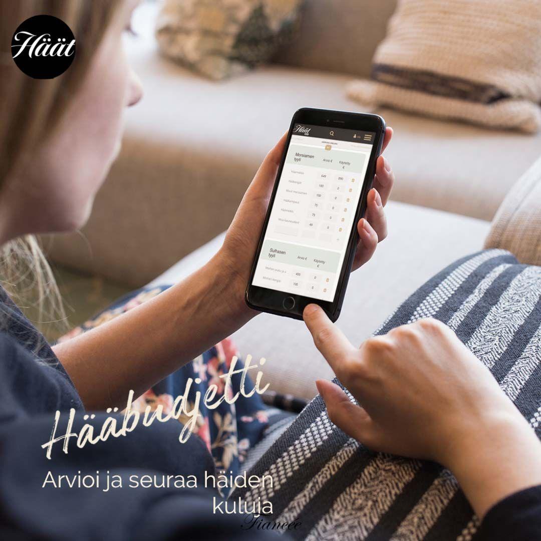 Häät.fin Hääpolku Hääbudjetti työkalu mobiilissa