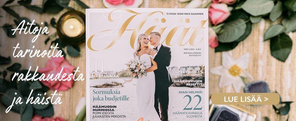 häätarinoita rakkaudesta Häät-lehti 1/2021