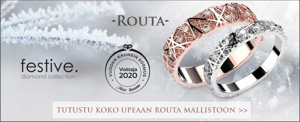 Festive Routa-sormusmallisto