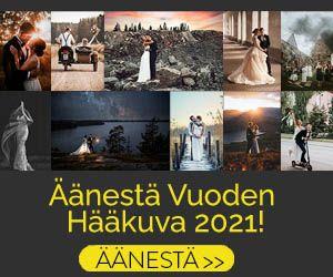 Äänestä suosikkiasi Vuoden Hääkuva 2021 kilpailussa