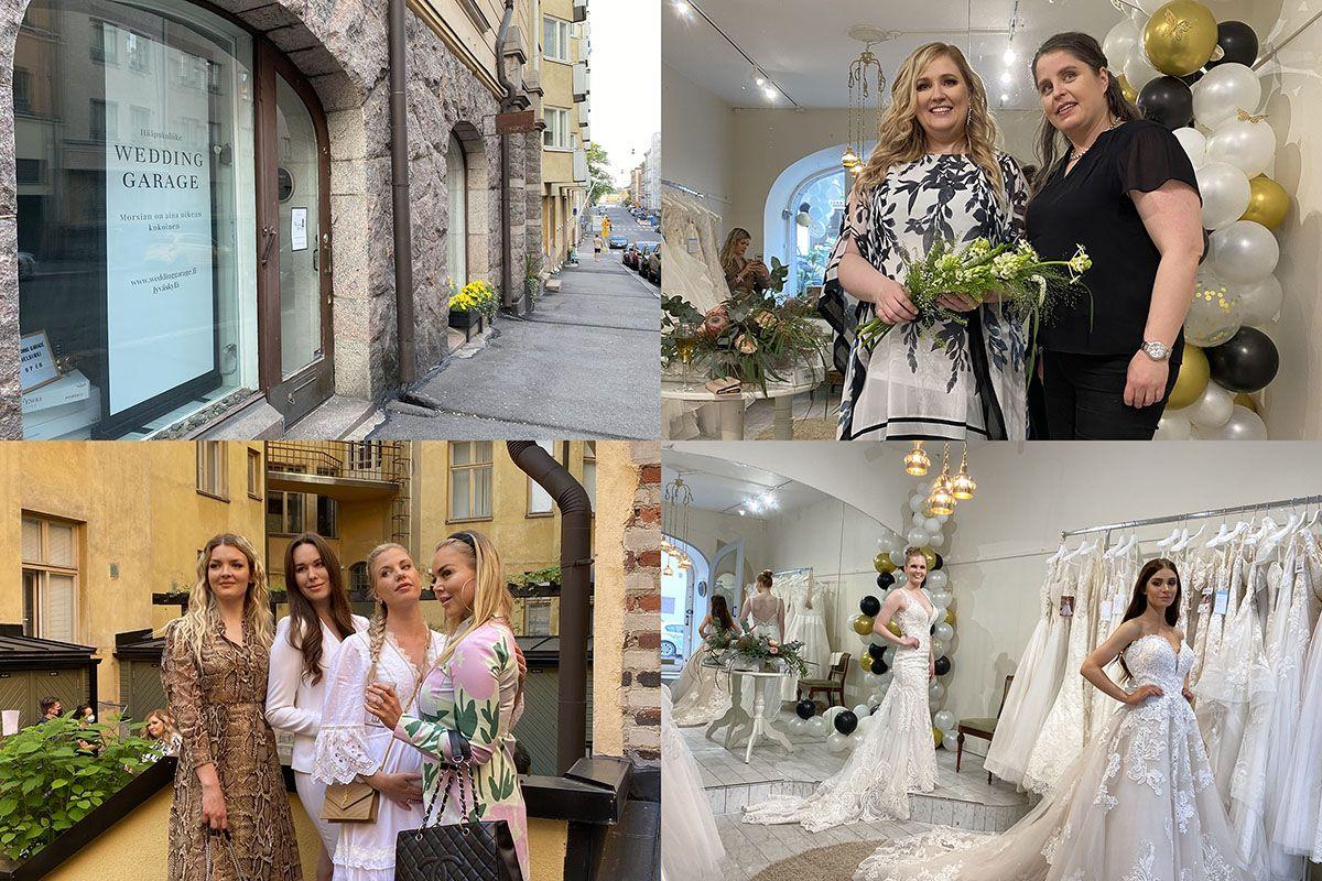 Hääpukuliike Wedding Garage Helsinki avajaiset 2021